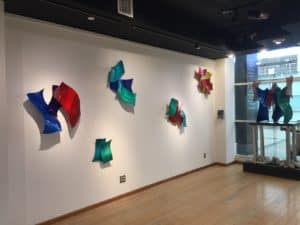 Collection of Colored Wall Sculptures